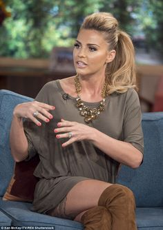Telling it straight: During an appearance on ITV's This Morning last week, Katie explained...