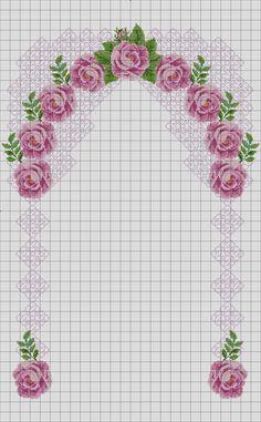 Biscornu Cross Stitch, Cross Stitch Borders, Cross Stitch Rose, Cross Stitch Flowers, Cross Stitching, Cross Stitch Patterns, Hardanger Embroidery, Cross Stitch Embroidery, Embroidery Patterns