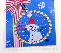 Snowman Treat Bags Set 8 Christmas Favor gift bags, $2.99