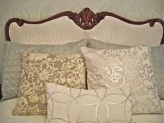 The Polka Dot Closet: Padding An Existing Headboard....It's Changeable, Not Permanent, And Won't Harm The Wood