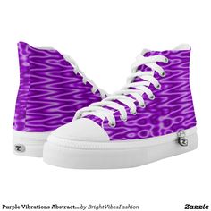 Purple Vibrations Abstract pattern Printed Shoes