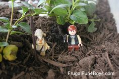 Plant a Garden for Imaginative Play - great for toy animals or Lego minifigures, and can be used inside or outside!