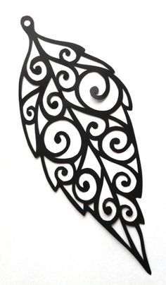 cut paper design Leaf Spiral Earring Design