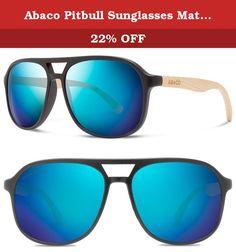 7605ec0a86a Abaco Pitbull Sunglasses Matte Black Natural Bamboo Frame Polarized Ocean  Mirror Lenses. Our Pitbull