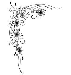 Floral element ornament vector by christine-krahl on VectorStock®