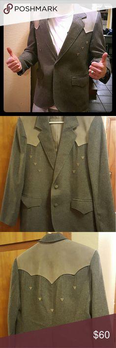 b73c516b098c Pioneer Wear Men s Western Blazer Size 42 Men s Western Blazer. Grey in  color