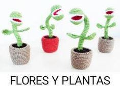 Amigurumi planta carnívora love little shop of horrors Crochet Cactus, Crochet Food, Diy Crochet, Crochet Dolls, Crochet Flowers, Amigurumi Free, Amigurumi Patterns, Crochet Patterns, Harry Potter Crochet