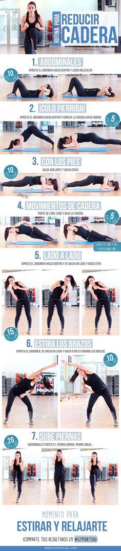 7 Ejercicios para reducir la grasa de la cadera. #ejercicios #bajardepeso #deporte