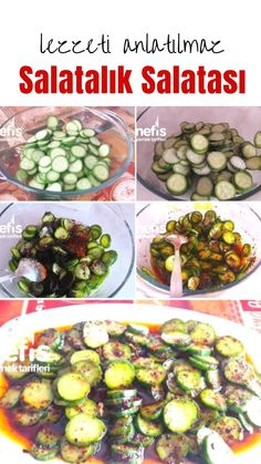 Restaurant Style Cucumber Salad (Taste Not Described) How to make a recipe? Illustrated explanation of this recipe in the book and photographs of those who try it are here. Salad Menu, Cold Pasta, Good Food, Yummy Food, Healthy Eating Habits, Cucumber Salad, Easy Salads, Summer Recipes, Salad Recipes