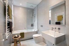 Trendy bathroom shower over bath layout Bathroom Renos, Bathroom Layout, Bathroom Colors, Bathroom Renovations, Washroom, Bathroom Design Software, Bathroom Design Luxury, Vintage Bathrooms, Coastal Bathrooms