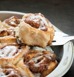 Buttermilk Biscuit Cinnamon Rolls. No yeast, no wait. Just fluffy buttermilk biscuits with a sweet cinnamon filling, drizzled with vanilla icing.