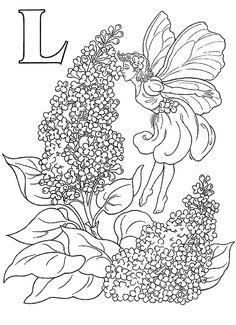 Coloriage Alphabet - Fees 2 à colorier | Allofamille
