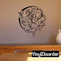 Graceful Zodiac Wall Decal - Vinyl Decal - Car Decal - DC 8001