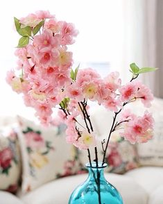While everyone is waiting for the season's first cherry blossoms, @slcook52 decided to make her own, with a little help from #pier1.  #pier1love #cherryblossom #fauxflowers