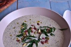 5 Minute Chilled White Bean, Cucumber, Mint & Yogurt Soup