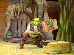 """John Maclay stars as everyone's favorite ogre in First Stage's production of """"Shrek the Musical."""""""