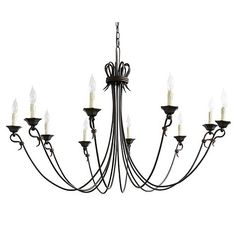 The slender arms of our Luce Chandelier reach out in expressive curls for an airy, elegant look. Wire-wrapped arms are crowned with hexagonal candle cups and matching faux drip candle sleeves. Wrought Iron Chandeliers, Large Chandeliers, 5 Light Chandelier, Chandelier Ideas, Pendant Lighting, Modern Kitchen Lighting, Candle Cups, Best Kitchen Cabinets, Hill Interiors