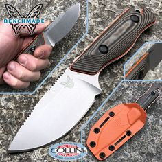 Benchmade - Hidden Canyon Hunter knife CPM-S90V - 15017-1 - kydex - fixed knife Benchmade Knives, Tactical Knives, Combat Knives, Kydex, Knives And Tools, Weapons, Survival, Fire, Collection