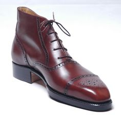 A good pair of cordovan brouge boots, such as this pair from Vass.