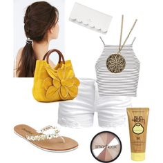 Sunny Tuesday 2 by ferrerchristine on Polyvore featuring polyvore, fashion, style, Topshop, ONLY, Mar y Sol, Kate Spade, maurices, Smashbox and Sun Bum