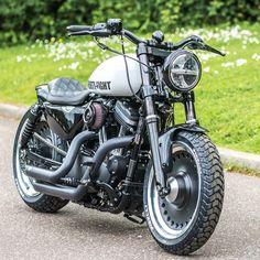 Love this Chubby little Sportster we built , with the 17 inch HD Fatboy wheels ❤️#fatboy #getsyked #hardworkpaysoff #custom #bespoke… #HarleyDavidsonFatboy