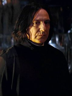 Alan Rickman as Professor Severus Snape - don't know which of the 8 movies this is from, but I'm sure it's not one of the first 3.