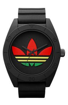adidas Originals 'Santiago XL' Silicone Strap Watch available at #Nordstrom