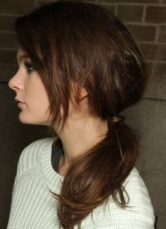 Tomboy ponytail side view