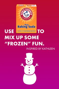"""Keep them entertained this winter with ARM & HAMMER™ Baking Soda ""no-snow"" people; all you need is water and cornstarch to mix up some ""frozen"" fun! Click the link in our bio to find the full recipe and more fun craft ideas. Preschool Christmas, Christmas Crafts For Kids, Christmas Activities, Christmas Decorations To Make, Christmas Projects, Holiday Crafts, Fun Crafts, Christmas Holidays, January Crafts"