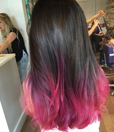 Most Popular pink ombre hair brown pastel Pink Hair Tips, Pink Ombre Hair, Hair Dye Tips, Colored Hair Tips, Hair Color Pink, Hair Dye Colors, Hair Color For Black Hair, Cool Hair Color, Brown Hair Pink Ends