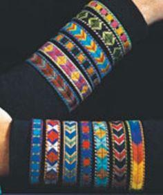 friendship bracelets Free needlepoint pattern