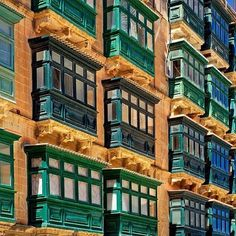 The ancient city of Valletta is as colourful as its architecture. Maltese balconies.