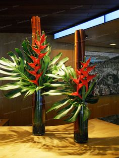 Heliconia and Monsteria - Reception Desk