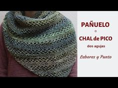 How to knit a handkerchief, neck or beak with two needles- Chaplain stitch- Work and Knit - Patrones de tejido Crochet Carpet, Knit Crochet, Crochet For Beginners, Knitted Shawls, Stitch, Sewing, Knitting, Pattern, Crafting