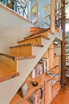 Best A Floatin Walnut Staircase Combines Hand Forged Steel 400 x 300