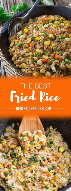 Absolutely the BEST Chinese Fried Rice - the perfect easy weeknight dish. With the most authentic flavors! My father was the head chef at a top Hong Kong Chinese restaurant and this was his specialty! So delicious and way better than any takeout! Plus a step-by-step video! Make it on Sunday for weekly meal prep for or leftovers are great for school lunchboxes or work lunch bowls. #friedrice #takeout