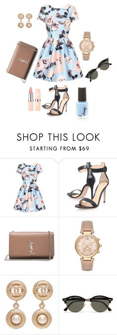 """""""Untitled #435"""" by stylemirror ❤ liked on Polyvore featuring Chi Chi, Gianvito Rossi, Yves Saint Laurent, Michael Kors, Chanel and Ray-Ban"""