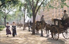 Madison Square Park em Nova York, por volta de 1900