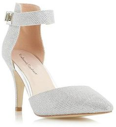 Womens silver court shoe from Dune - £49 at ClothingByColour.com