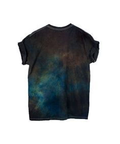 Dark Brown Blue Tshirt UNISEX SIZE Blue Tie Dye