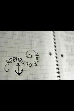 Refuse to sink ~