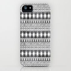 Tribal All Over Print Black and White iPhone Case