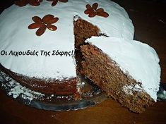 ΦΑΝΟΥΡΟΠΙΤΑ ΤΕΛΕΙΑ ΜΕ 11 ΥΛΙΚΑ!!! Η παράδοση μας λέει ότι η Φανουρόπιτα πρέπει να φτιάχνεται με 7-9 ή 11 υλικά. Πάντα σε μονό αριθμό.Και εμένα μ'αρέσει να τηρώ τις παραδόσεις μας!!! Δοκιμάστε τη δι... Greek Desserts, Greek Recipes, Vegan Desserts, Greek Cake, Food Network Recipes, Cooking Recipes, The Kitchen Food Network, Chocolate Fudge Frosting, Confectionery