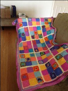 Crochet granny square blanket for my little God-daughter