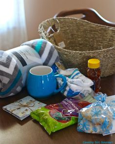 Cozy gift basket i made for my mom this christmas cute basket diy warm and cozy gift basket solutioingenieria Choice Image