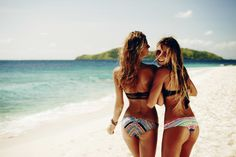 My Bikini with Alana Blanchard in the Bali Dancer Bandeau and Hipster and Alejandra in the Gypsy Queen Bandeau and Hipster on location Fiji. Alana's Closet