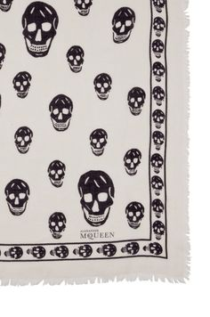 Close-up on skull pashmina scarf