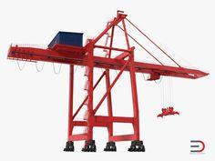 Ship to Shore Crane Rigged 3d model