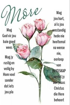 Afrikaanse Quotes, Goeie More, Beautiful Landscapes, Good Morning, Boss Wallpaper, Girl Boss, Plants, Night, Pictures