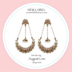 #NewLabel in house: August Line! Shop now at www.labelmansion.com ~ Danglers, jhumkas & More! #shopnow #labelmansion #jewellery #jewels #earrings #girls #girly #women #indian #ladies #feminine #royal #label #love #labellove #india #ootd #ootn #tbt #thursday #whatsnew #hot #stylists #bloggers #fashion #designers #shoponline #shopindia #labelmansion.com